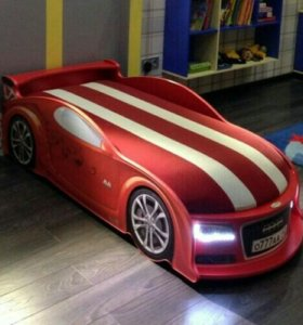 Детские Кроватки Машинки Audi Красная Доставка