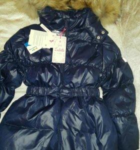 Новая зимняя куртка пуховик 110 - 116