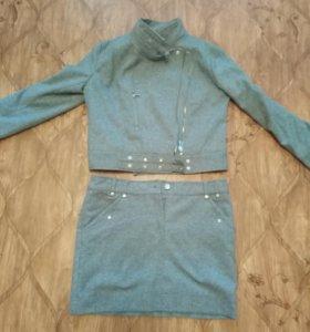 Куртка и юбка тёплые