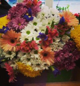 Оформление букетов, цветы
