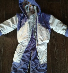 Демисезонный костюм из полукомбеза и куртки