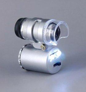 Мини-микроскоп с LED подсветкой+чехол