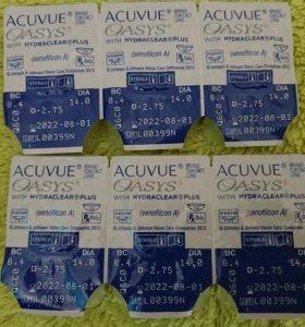 Контактные линзы - 3,5  и - 2,75 Acuvue Oasys