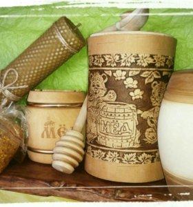 Мёд, прополис, мёд с орехами