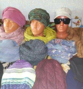 Кепки шапки платки шлемы банданы хомуты