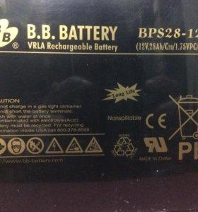 """Аккумулятор BB Battery BPS 28-12D """"30шт"""""""