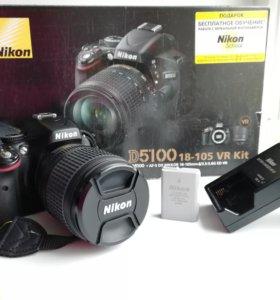 Никон д5100, объектив 18-105  VR