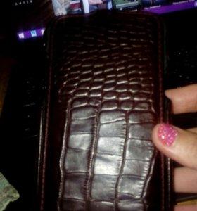 Чехол кожаный на Samsung Note 2