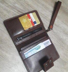Холдер портмоне из телячей кожи ручной работы