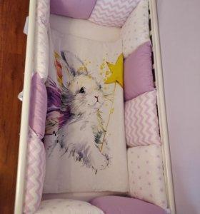 Бортики в кроватку(полный комплект)