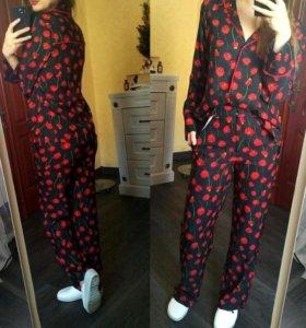 Костюм-пижама из сатина HM