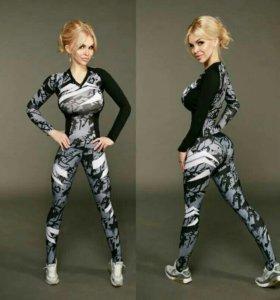 Новый женский спортивный костюм, леггинсы, лосины