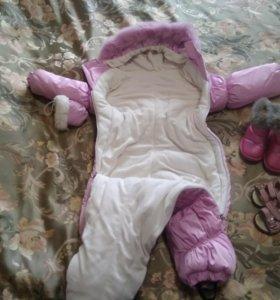 Комбинезон зимний и обувь детская