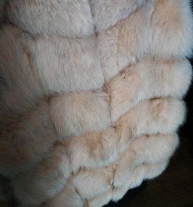 Меховая жилетка из песца 46р