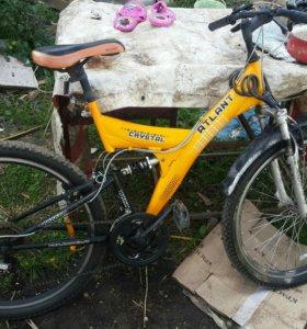 Продаю горный велосипед двух подвесный