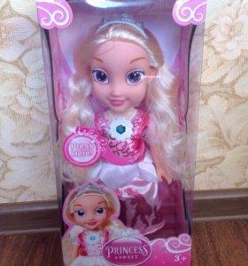 Кукла Эльза новая с музыкой и светом