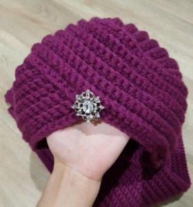 Новая чалма и шарф, ручная работа.