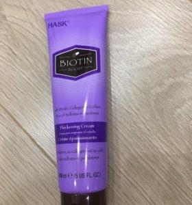 Уплотняющий крем для тонких волос с биотином HASK