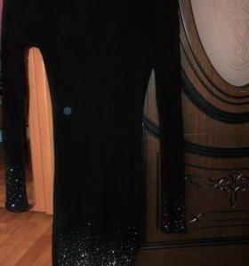 Платье водолазка теплое