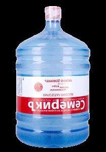 Доставка питьевой воды объемом 19 литров