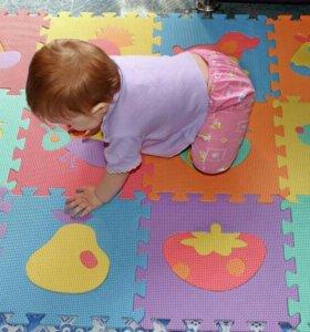 Детский коврик пазл, мягкий новый 1.5x1.5 метра.