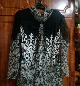 Блузка чёрно-белая