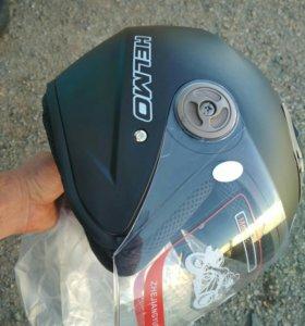 Мото шлем черный матовый, новый