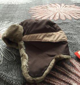Зимняя шапка новая 50 размер