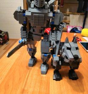 Лего Рыцарь и Волк.
