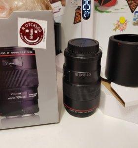 Объектив Canon 100 mm L 2.8 macro