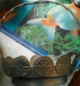 Мельхиоровая подставка для сахарницы
