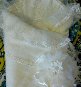 Одеяло-конверт на выписку для девочки