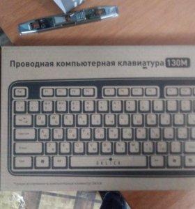 Oklick 130M Multimedia Keyboard Black PS/2