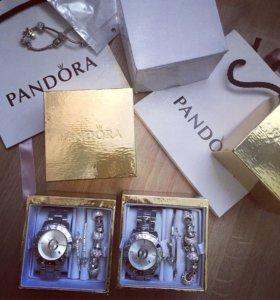 Часы и браслет Пандора