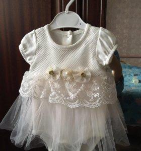Платье-боди для малышки