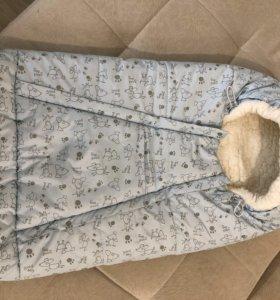 Конверт зимний на овчине
