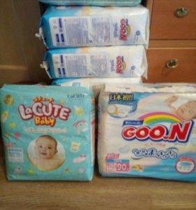 Японские подгузники для новорожденных Goon Lacute