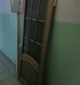 Межкомнатные двери цельнодеревянные вместе с короб