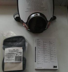 Полнолицевая защитная маска 3м 6000