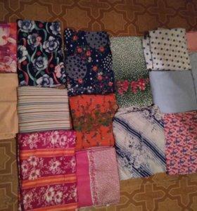 Продаю ткани СССР отрезы разных расцветок и размер