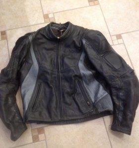 Защитная кожаная куртка для мотоциклистов