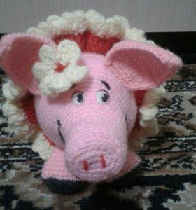 Вязаная свинка
