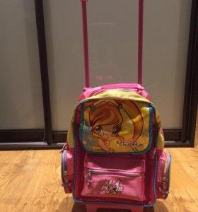 Детский чемодан-рюкзак Winx