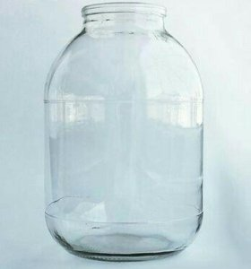 10 стеклянных банок 3 л.