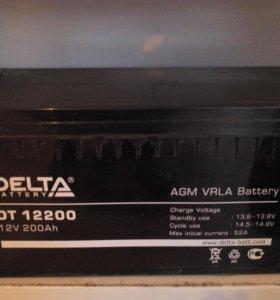 аккумуляторы Delta DT 12200 200 Ah