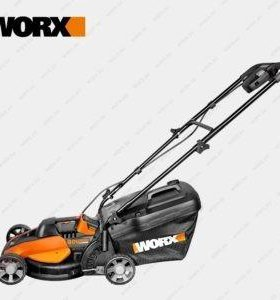 аккумуляторная газонокосилка Worx