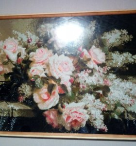 Картина алмазная вышивка розы