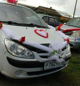 Свадебные украшение на машину