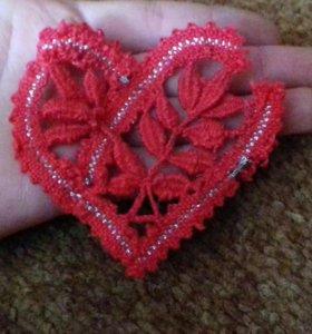 Кружевные сердечки