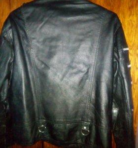 Куртка косуха кожа черная 48р.